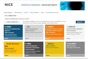 Healthcare Databases (e.g. Medline, Cinahl)
