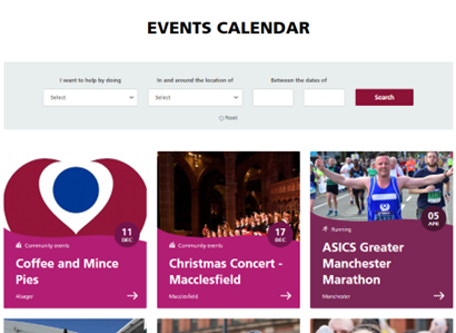 The Christie charity events calendar