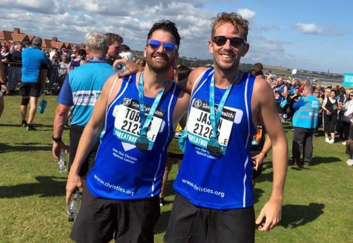 Tobias Evans and Jason Whalley Great North Run 2019.jpg