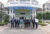 Christie CEO Roger Spencer (second left) visiting Kenyatta University Hospital.