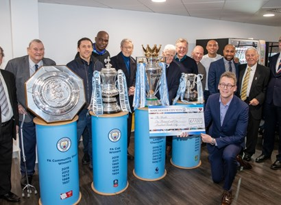 The Manchester City legends visit The Christie.