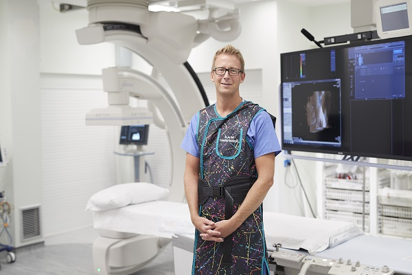 Consultant interventional radiologist at The Christie, Dr Jon Bell.